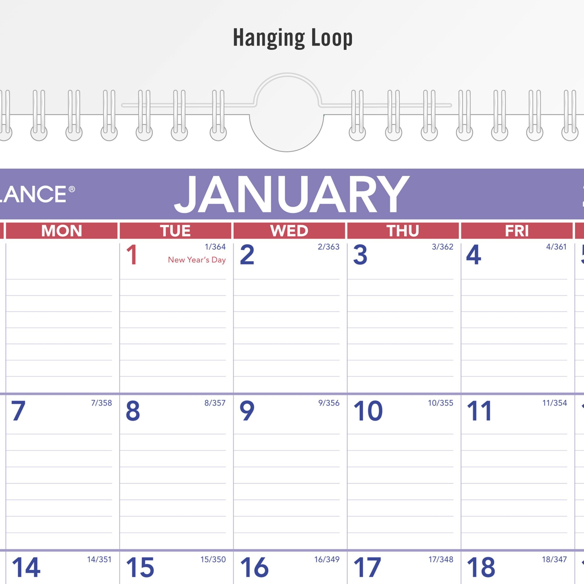 """at a glance recycled monthly wall calendar julian dates monthly 1 year january 2021 till december 2021 1 month single page layout 8"""" x 11"""""""