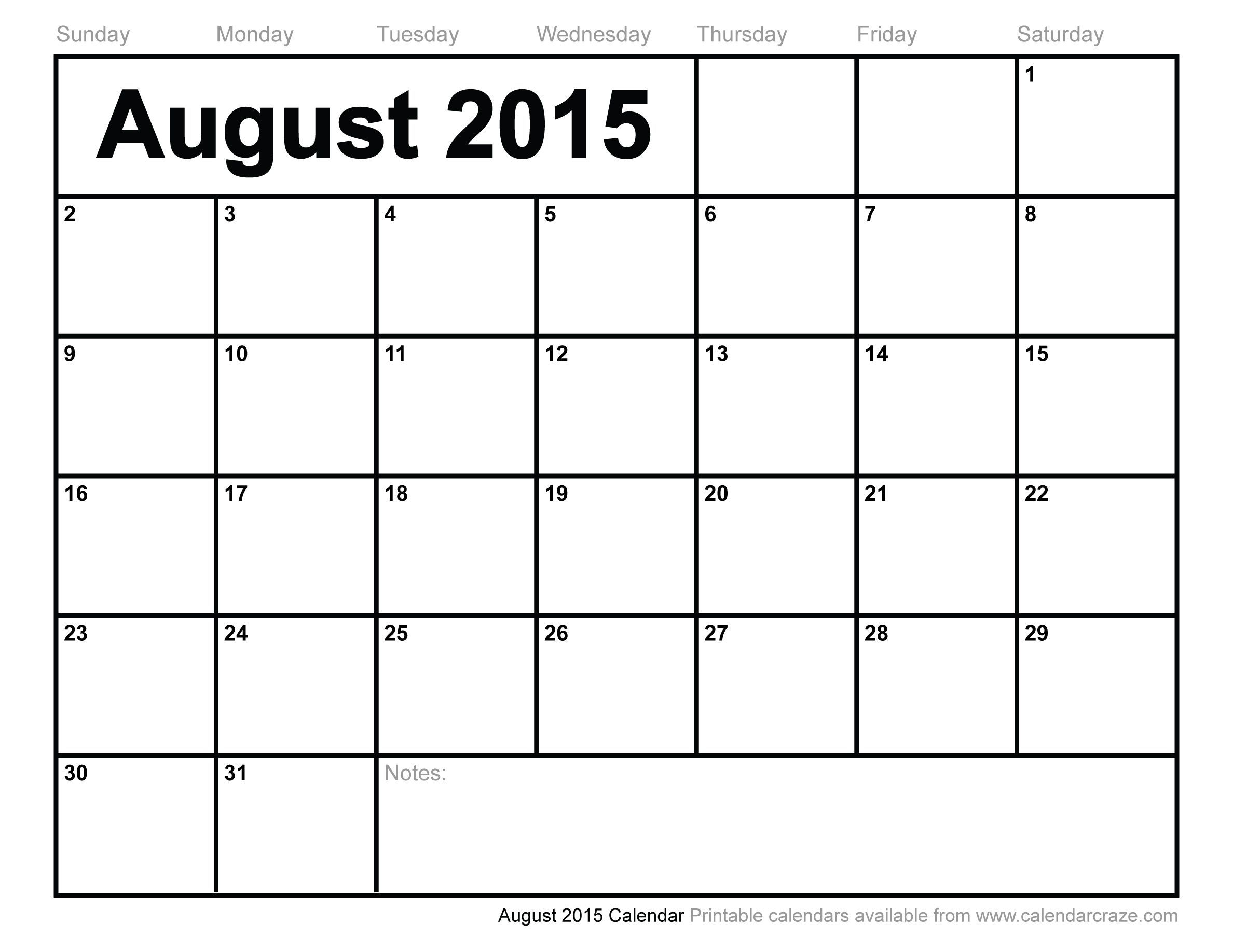 august 2015 calendar printable | printable calendar july