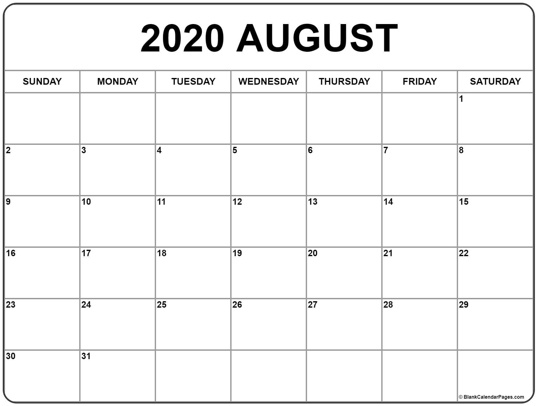 august 2020 calendar | free printable monthly calendars