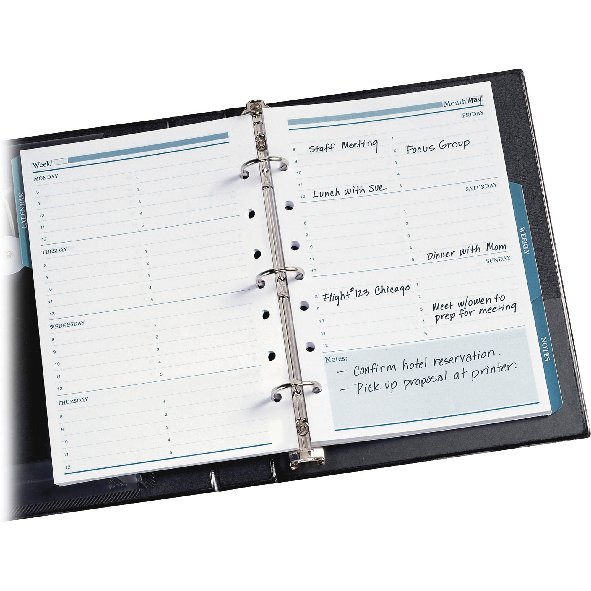 "Avery® 5 5"" X 8 5"" Mini Calendar Pages, Fits 3 Ring/7 Ring"