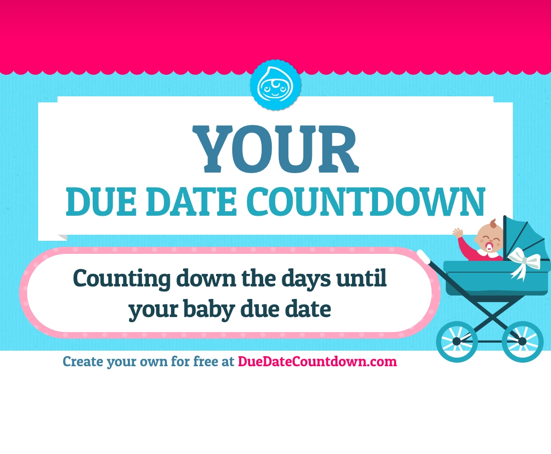 baby due date countdown count down the days of your pregnancy