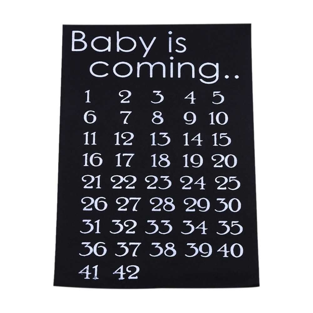 baby is coming maternity women calendar countdown pregnancy mark off baby announcment baby birth countdown 42 weeks