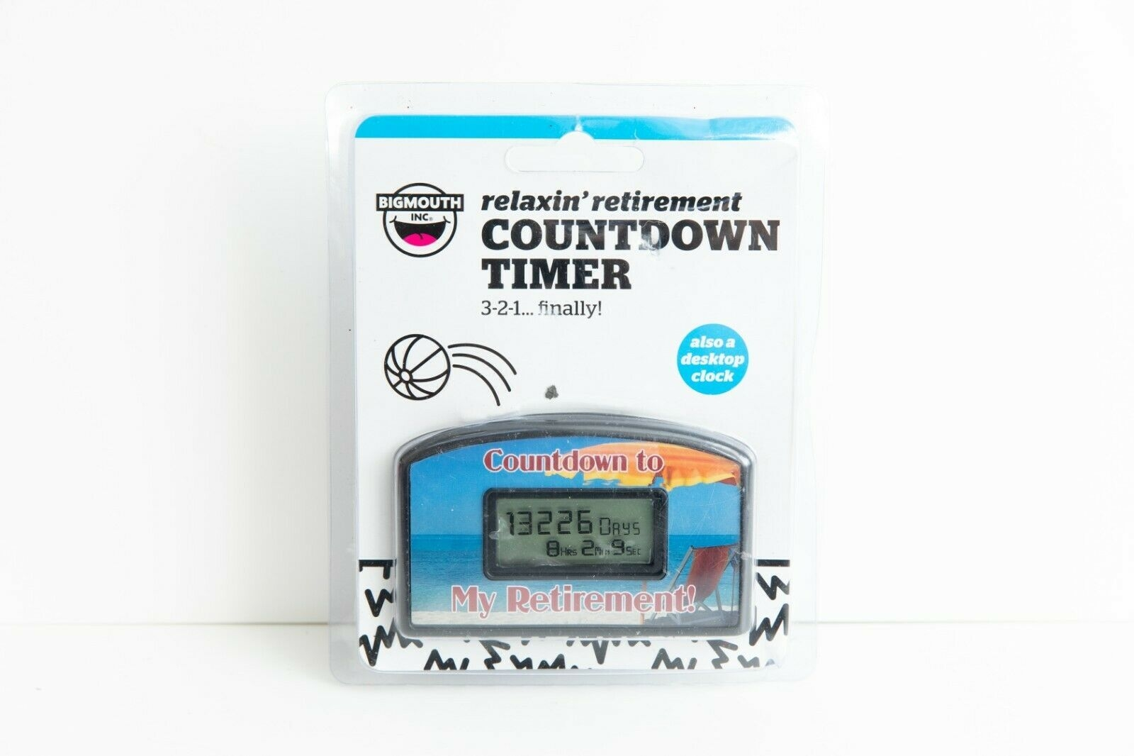 bigmouth inc countdown timer relaxin' retirement red chair