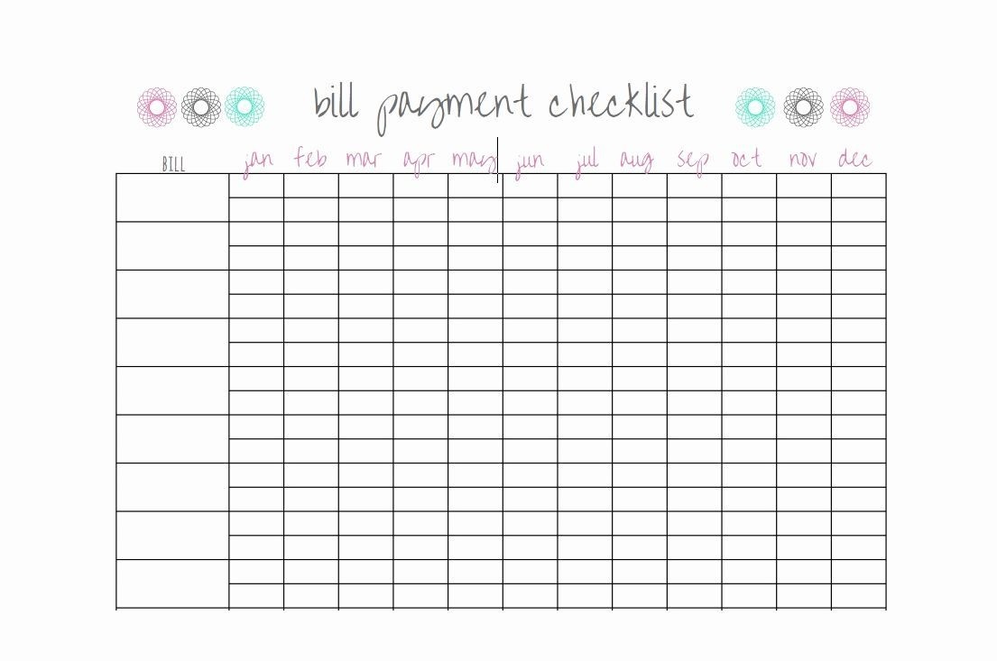 Bill Paying Calendar Template Awesome 32 Free Bill Pay