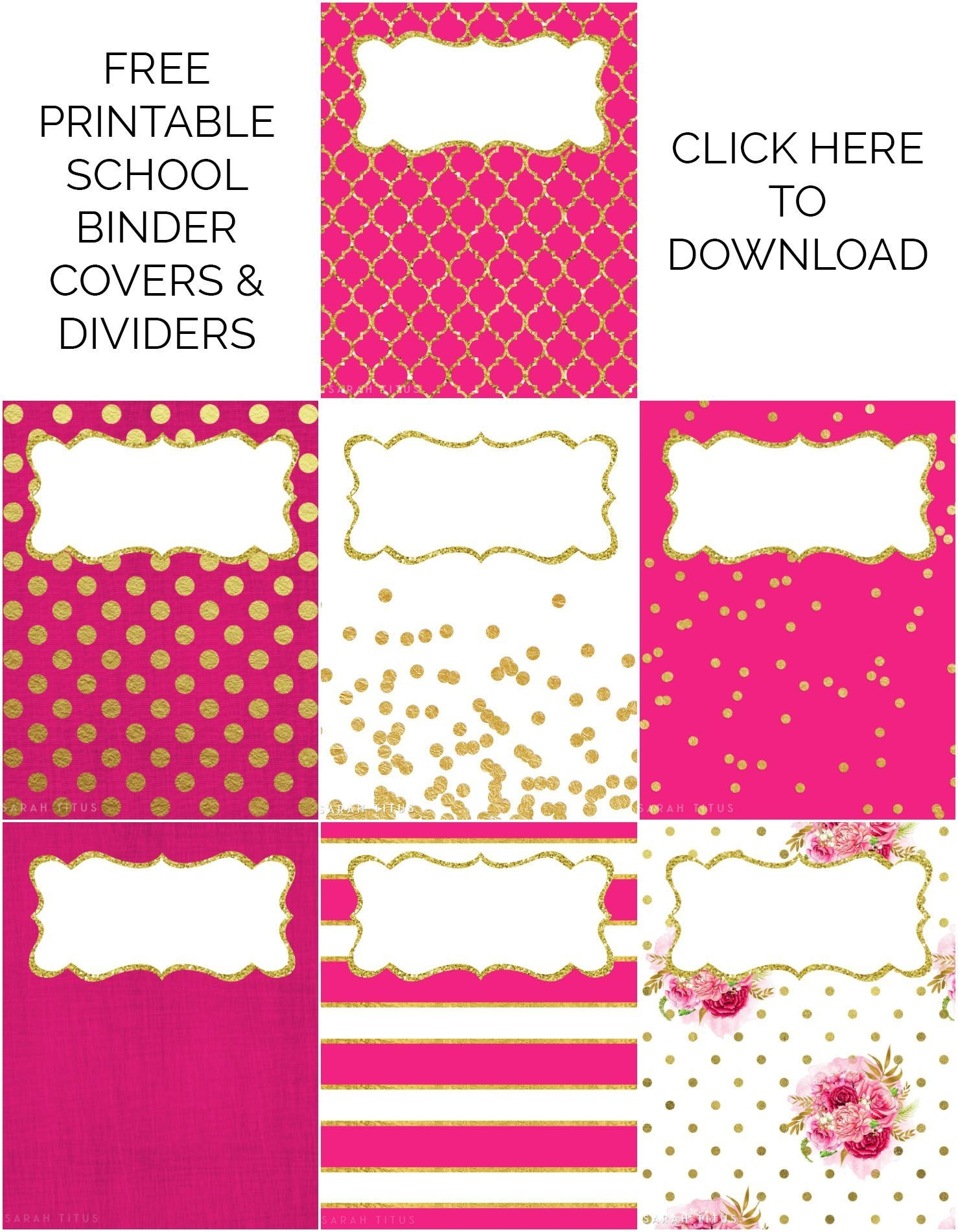 Binder Covers/dividers Free Printables | Binder Covers Free