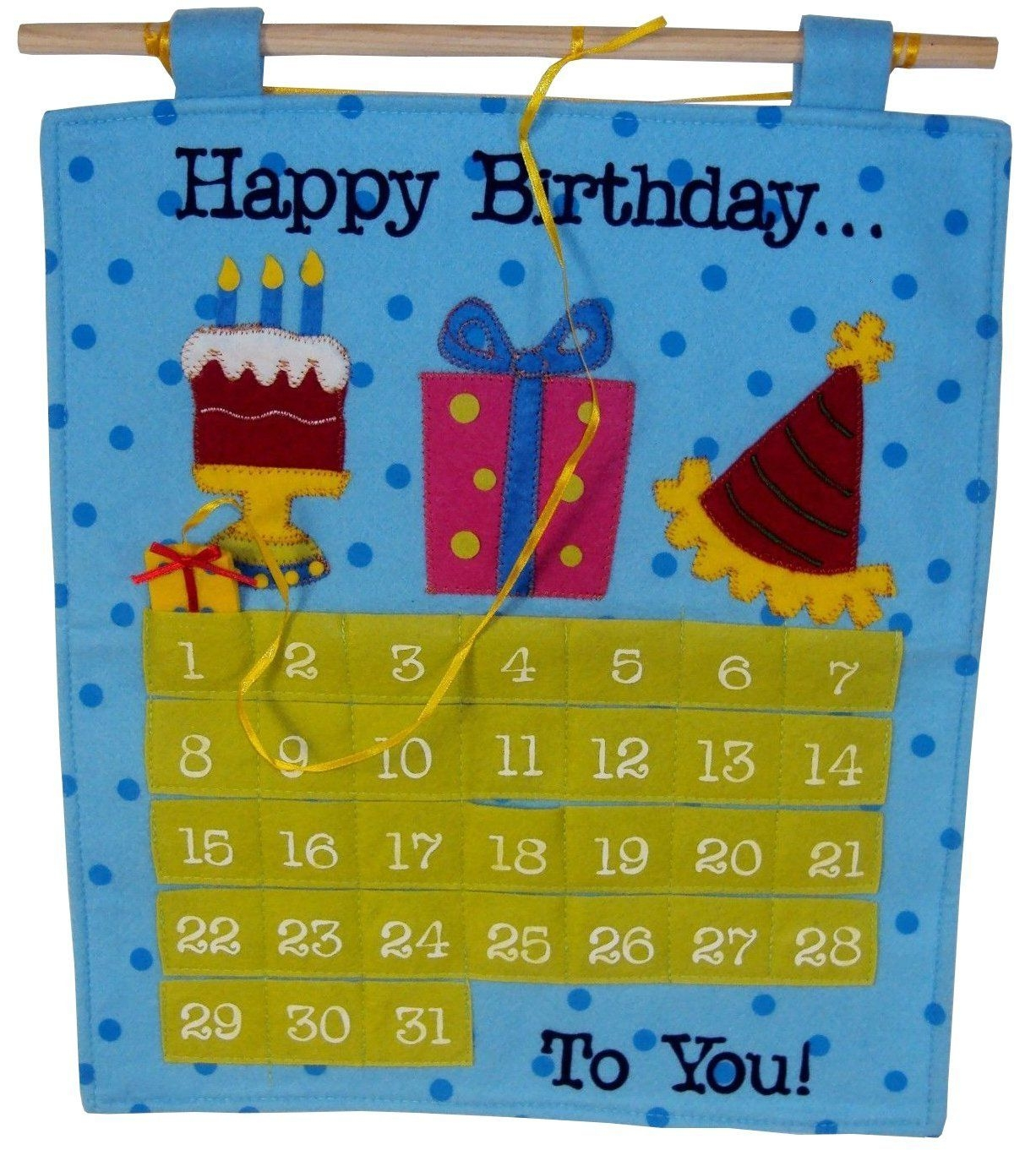 Birthday Countdown Calendar Pocket Chart,number Pocket Chart