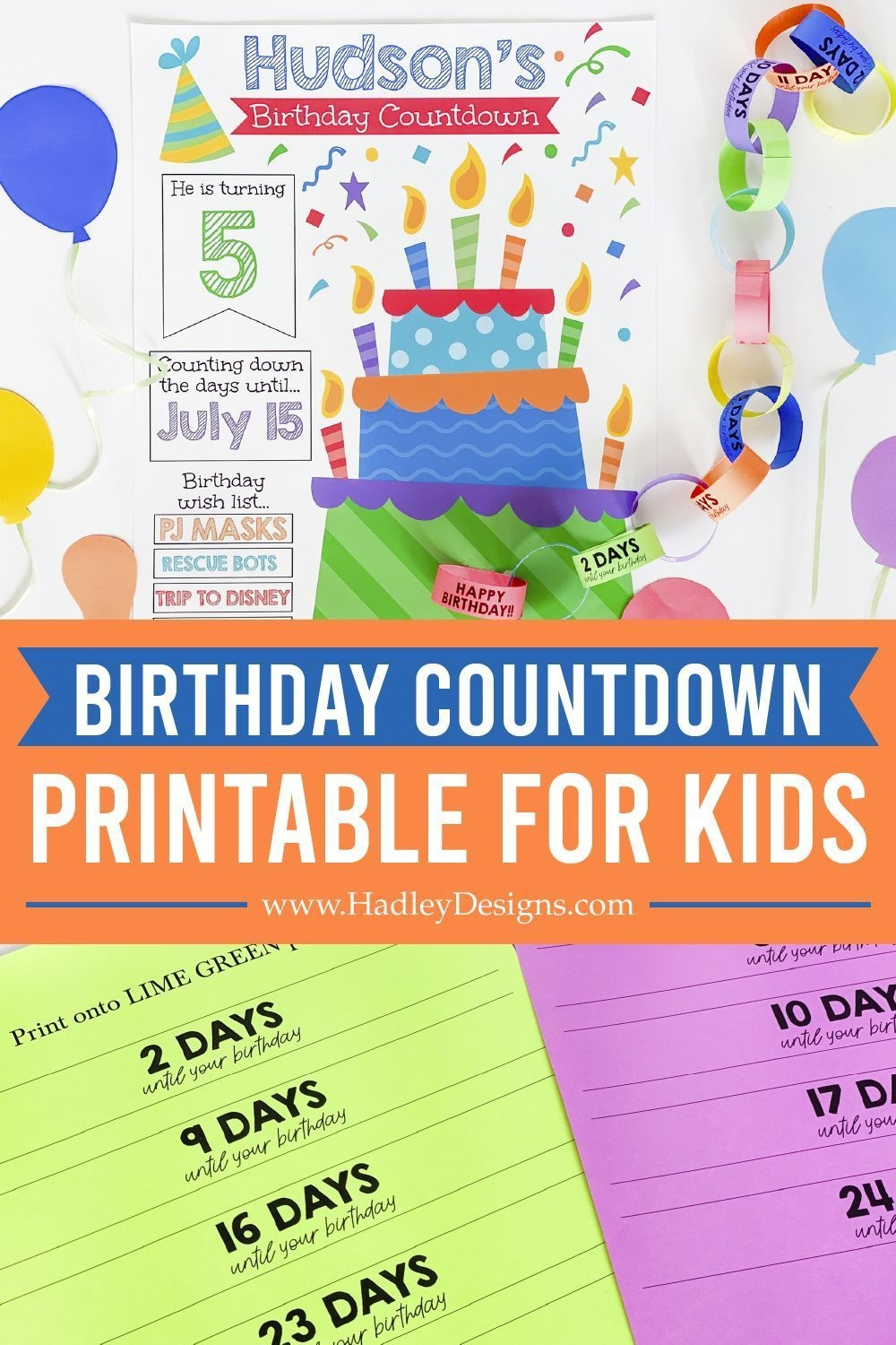 birthday countdown printable in 2020 | birthday decorations