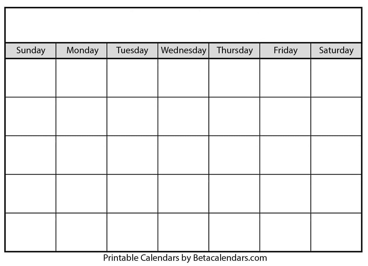 Blank Calendar 2021 | Free Blank Printable Templates