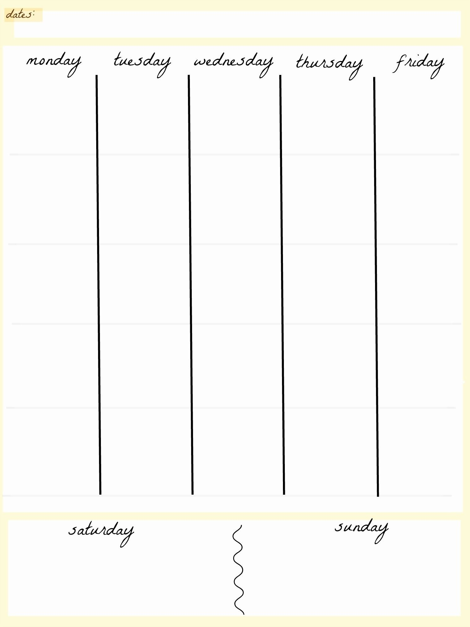 blank calendar 5 day week   blank calendar template dowload