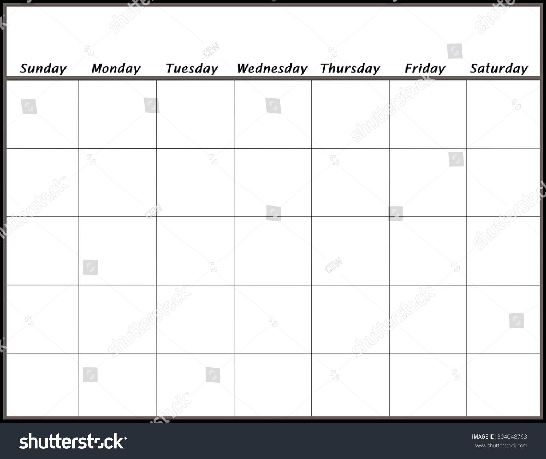 blank calendar page days no year stock illustration 304048763