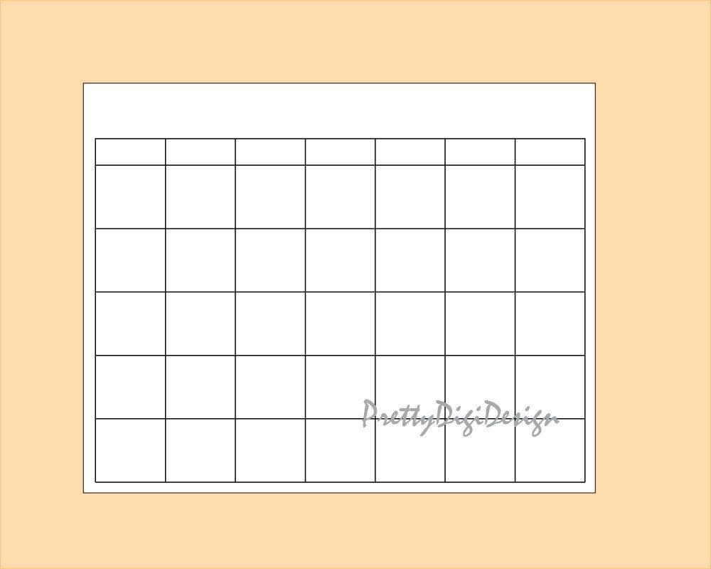 blank calendar printable page, ready to print calendar