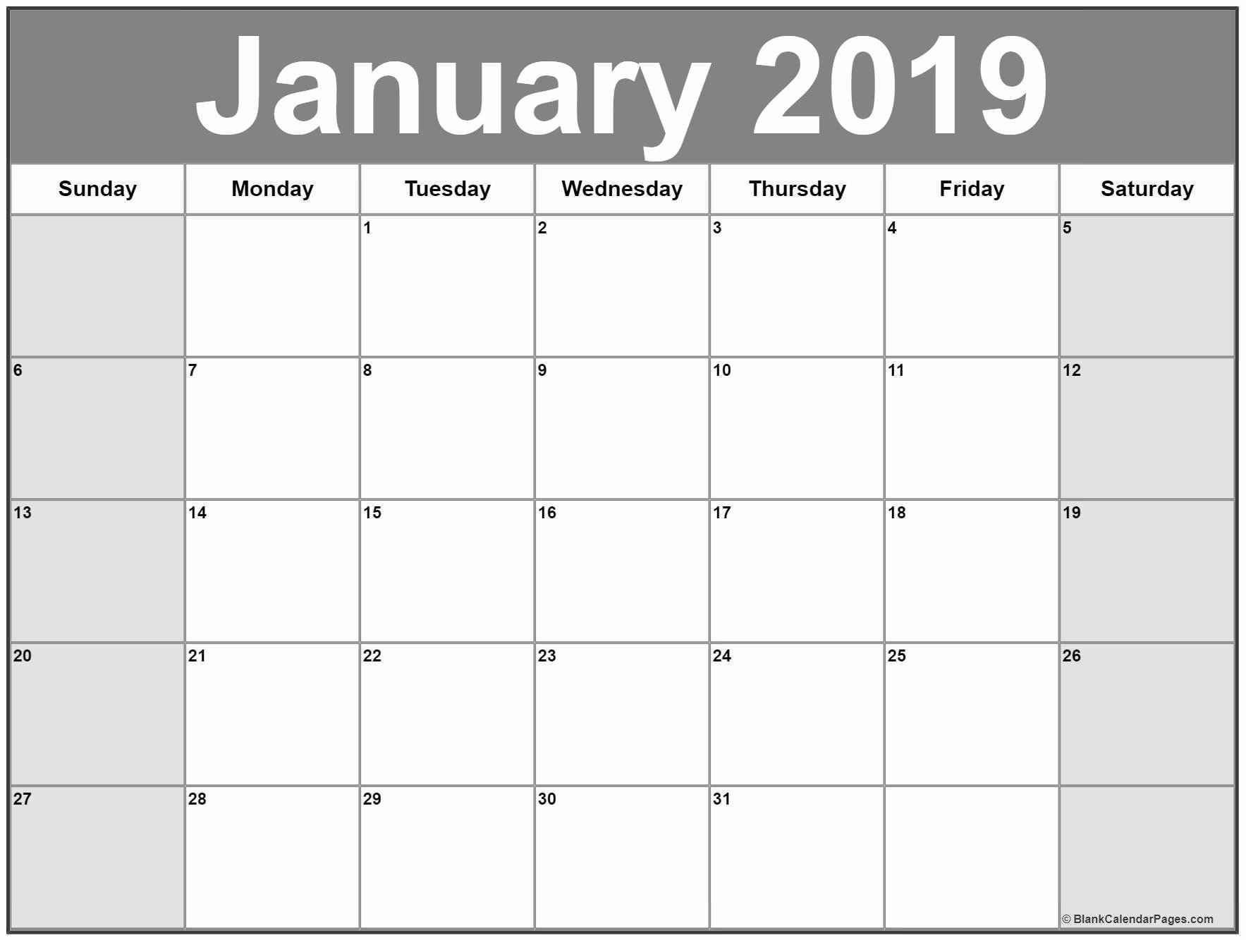 blank calendar template 2019 unique january 2019 calendar in