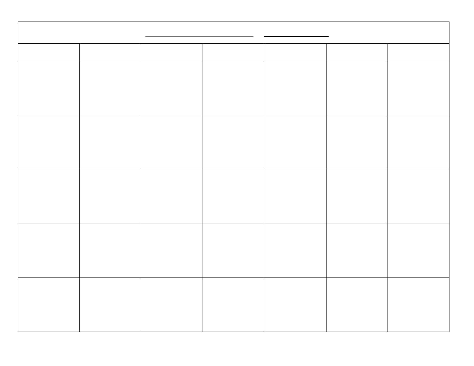 Blank Calendar Template Free Download