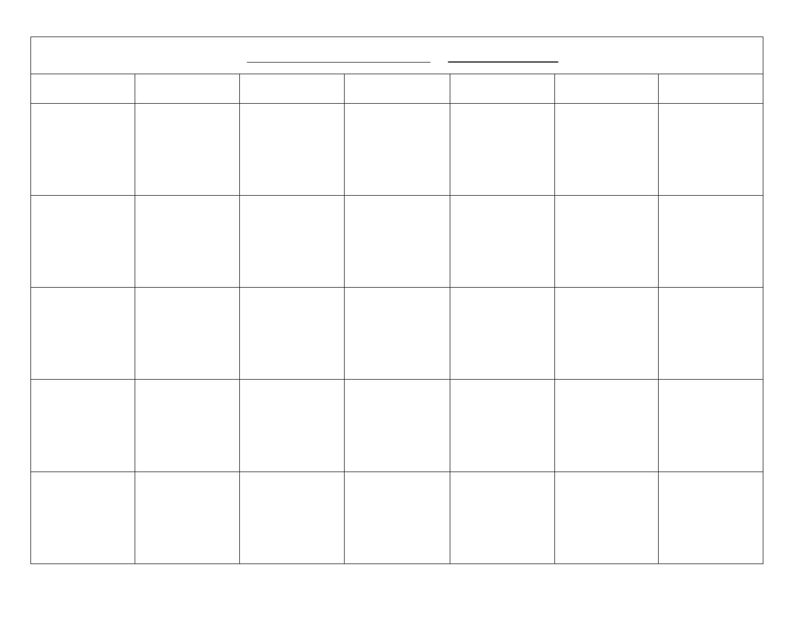 Blank Calendar Template Free Download