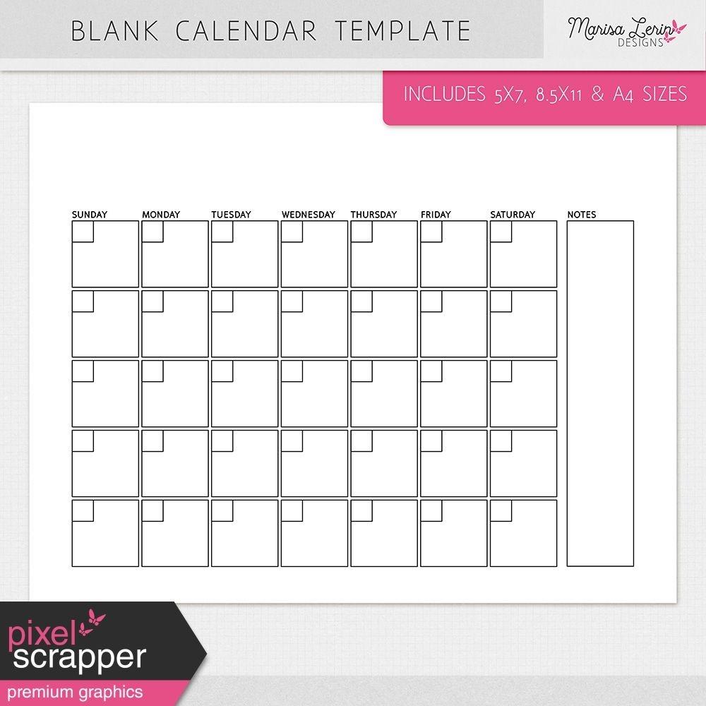 blank calendar templates kitmarisa lerin graphics kit