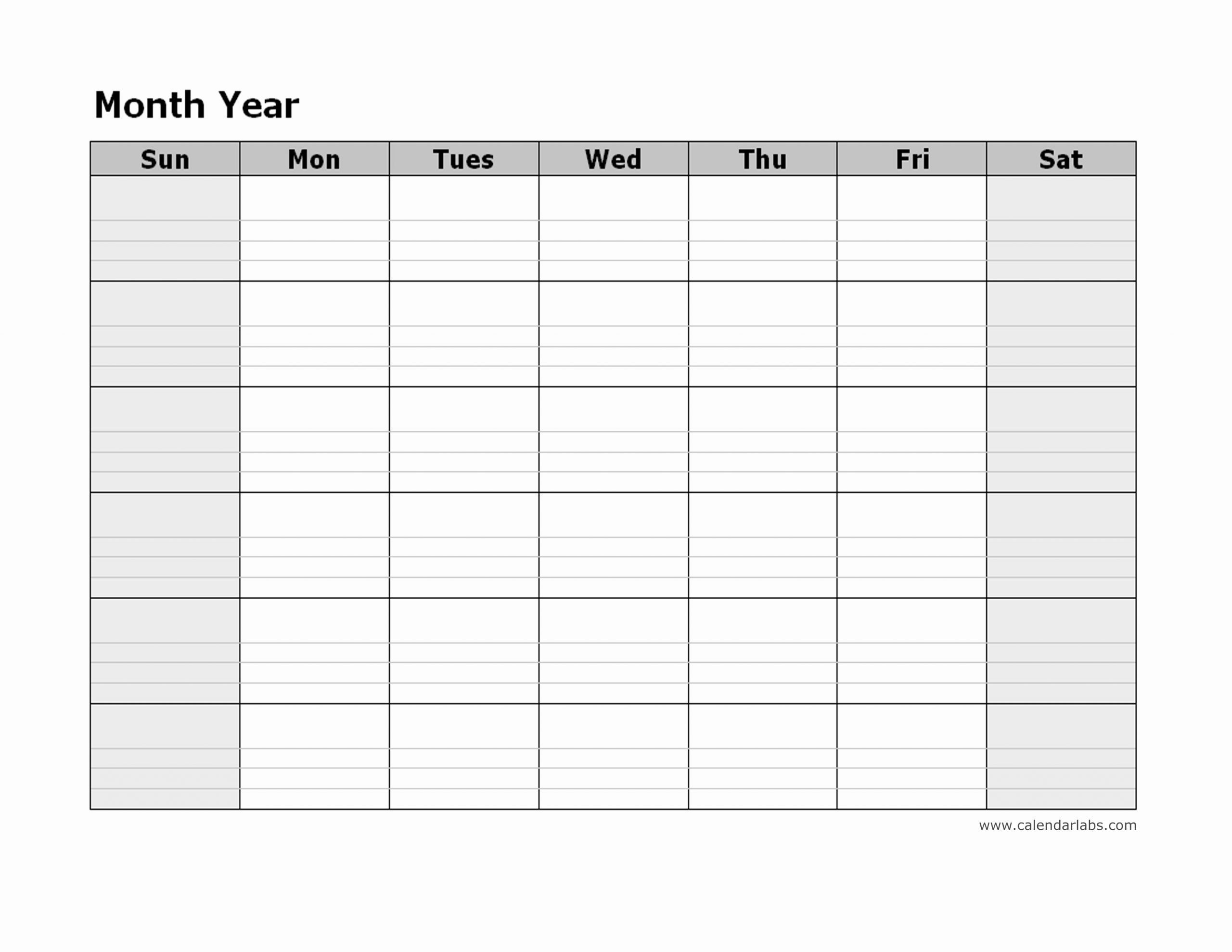 blank monthly schedule template inspirational monthly blank