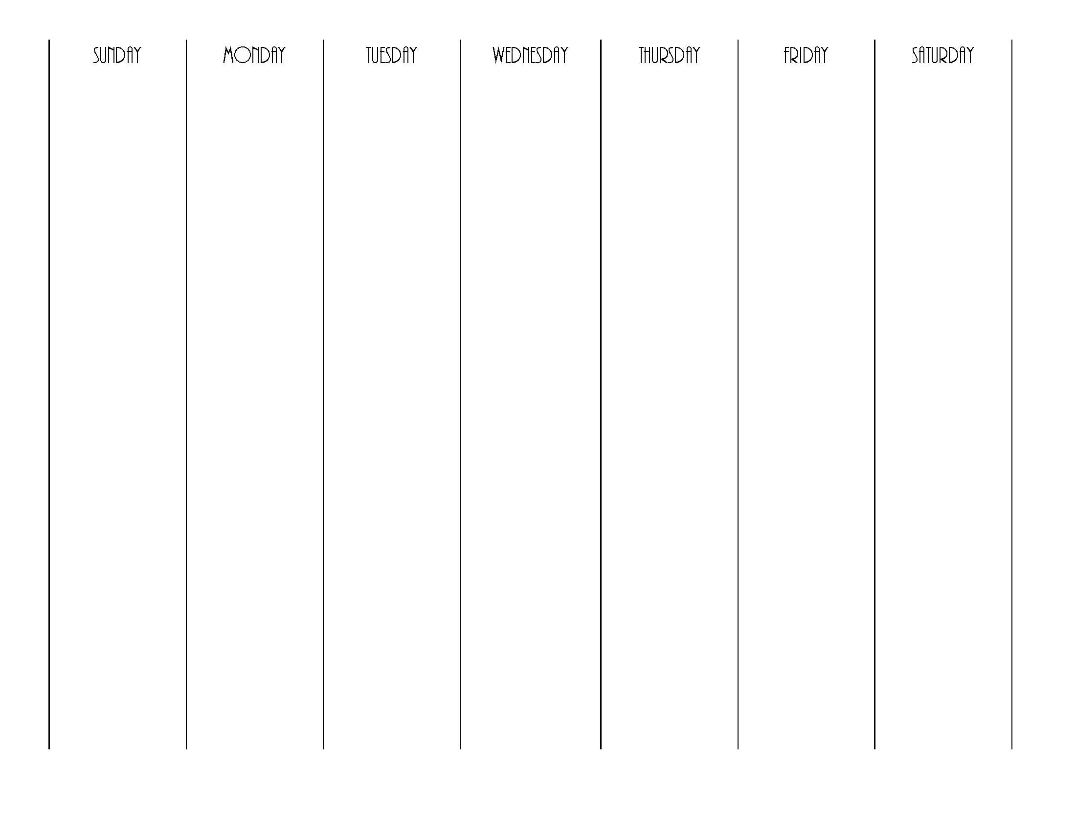 blank weekly calendar | editable pdf, word or image