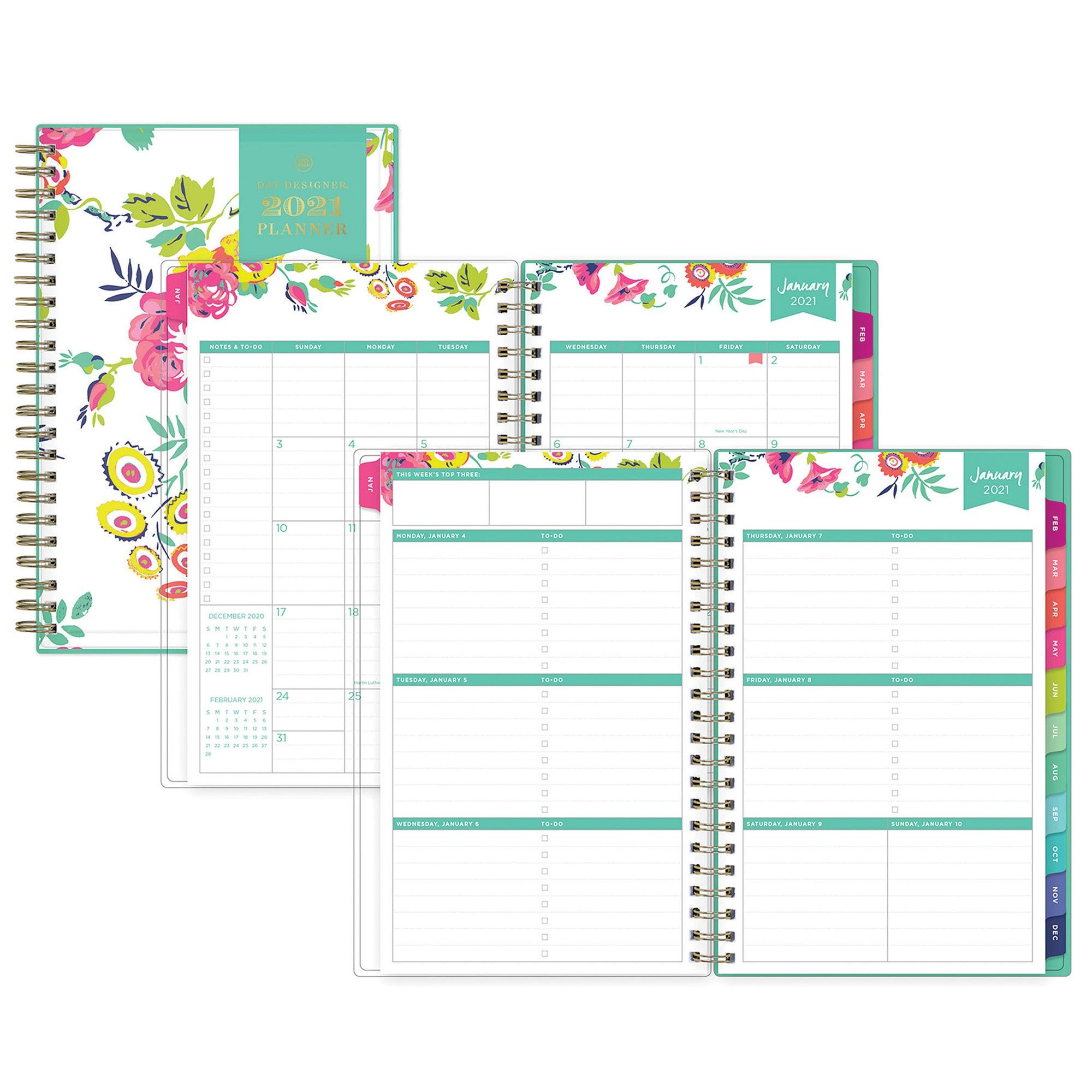 "Blue Sky Day Designer Weekly/monthly Planner 5"" X 8"""