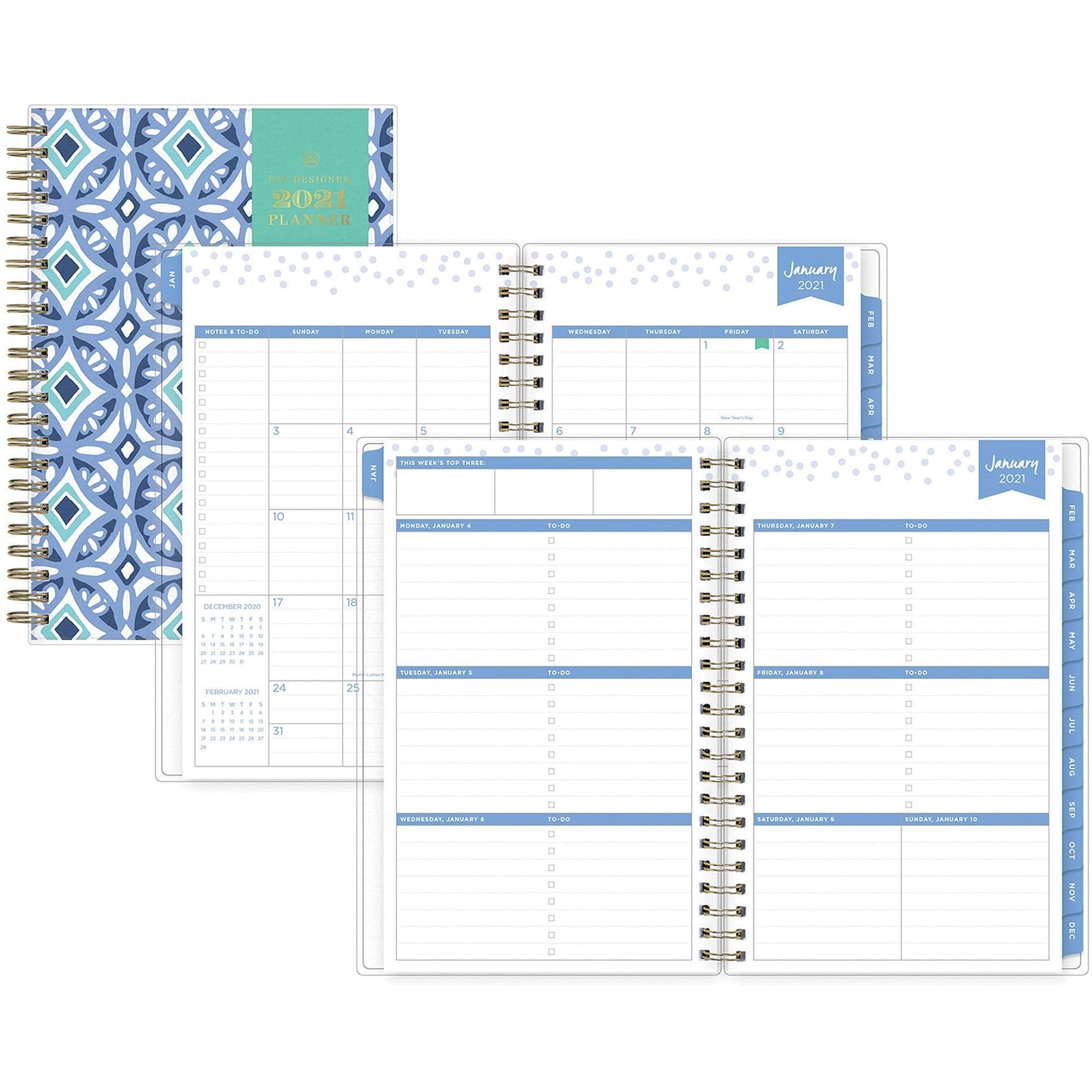 blue sky design cover weekly/monthly planner
