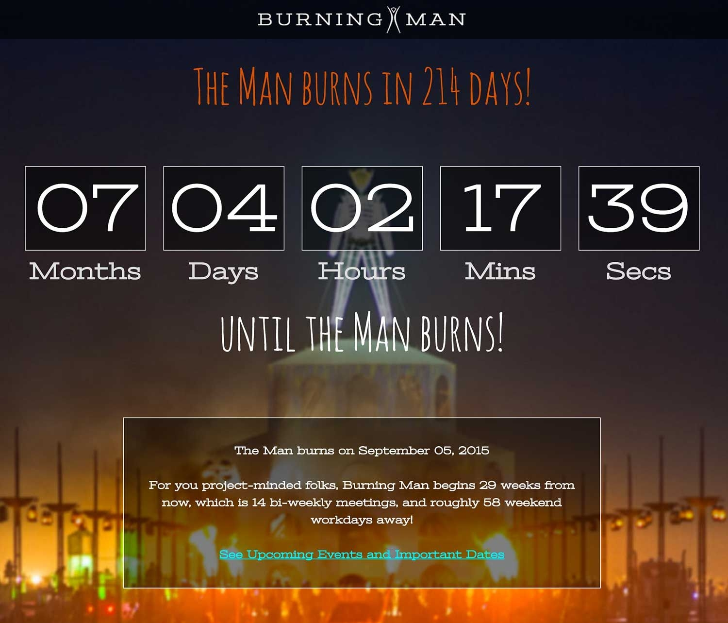 Burning Man Countdown | Burning Man