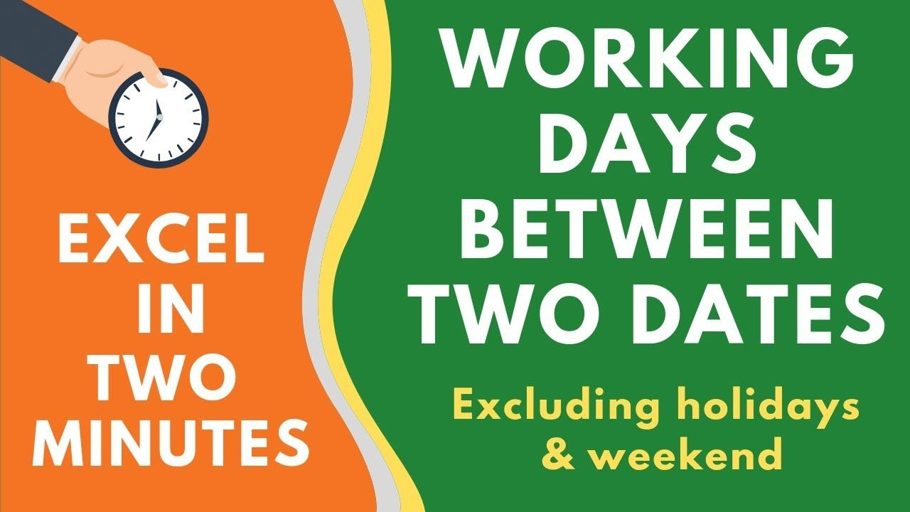 calculate working days between two dates in excel (excluding weekend & holidays)