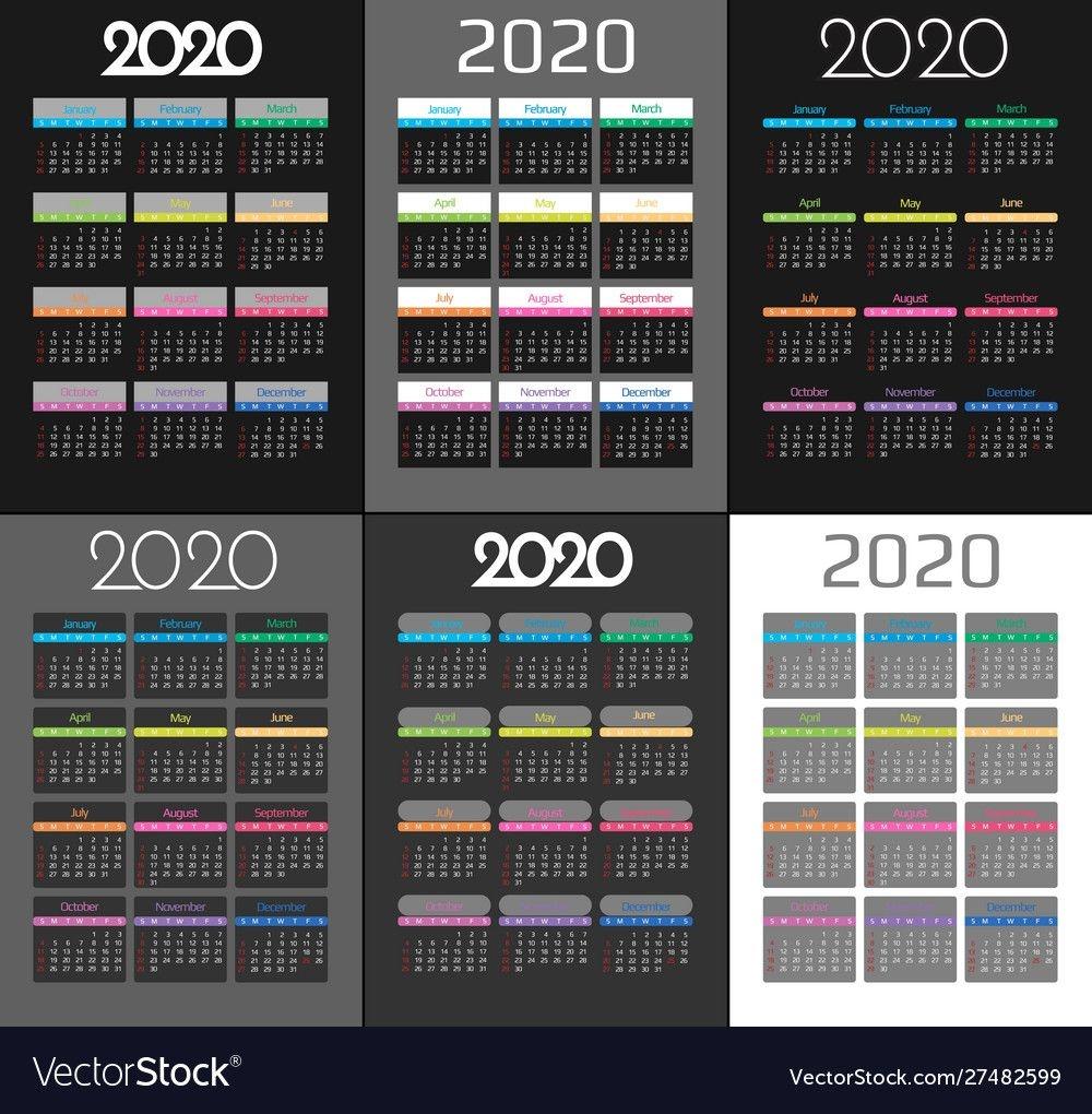 Calendar 2020 And 2021 Template 12 Months
