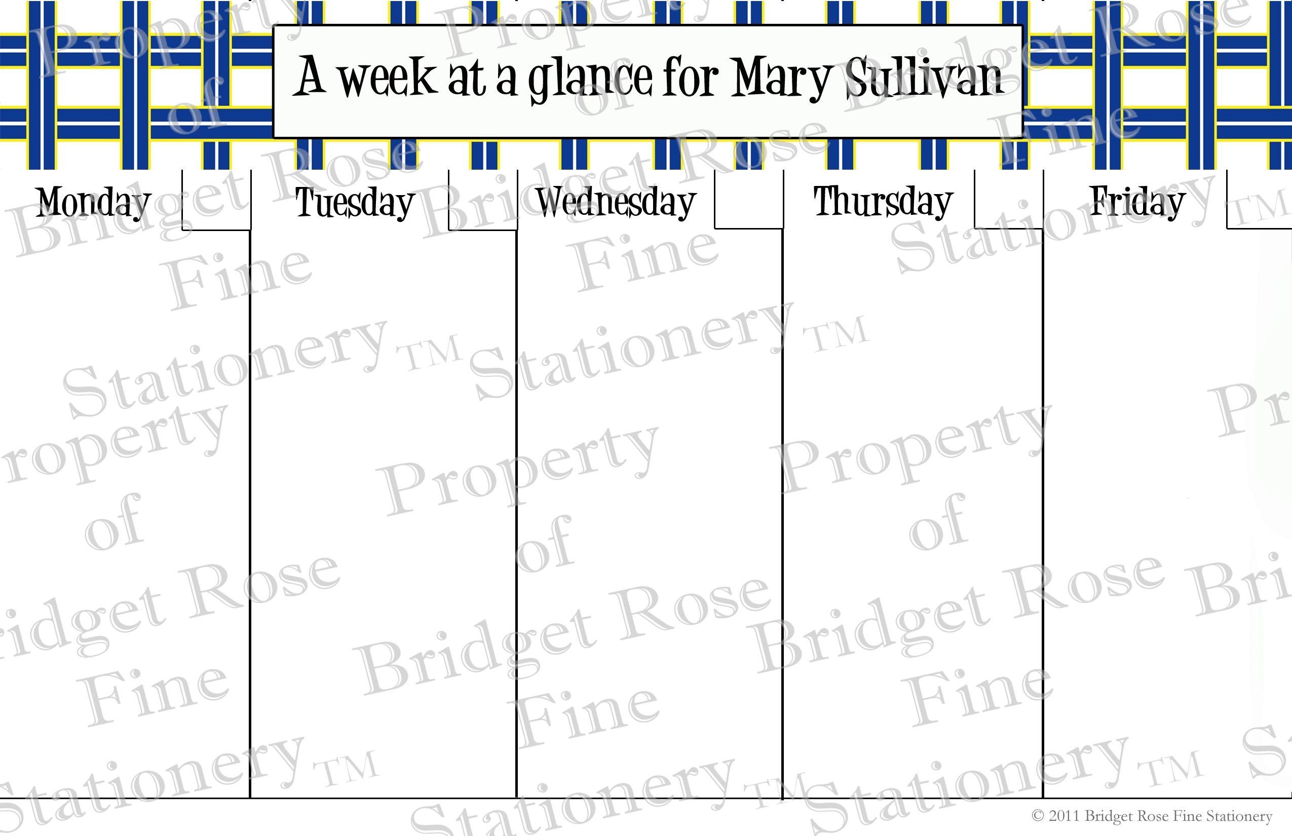 Calendar | Bridget Rose Fine Stationery