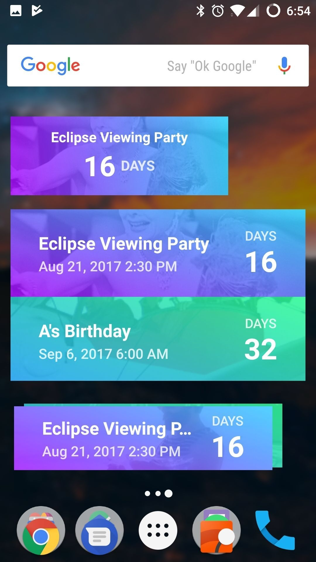 Calendar Countdown App Android In 2020 | Birthday Calendar