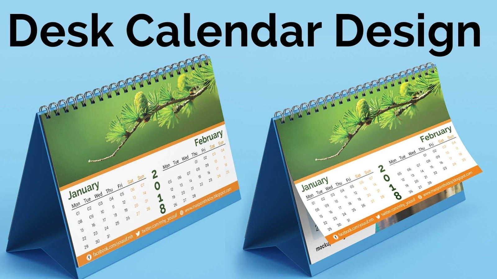 calendar design 2018 | how to create a desk calendar in