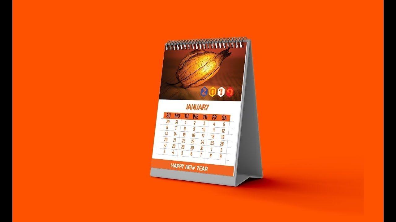 calendar design (2019 desk calendar) photoshop tutorial