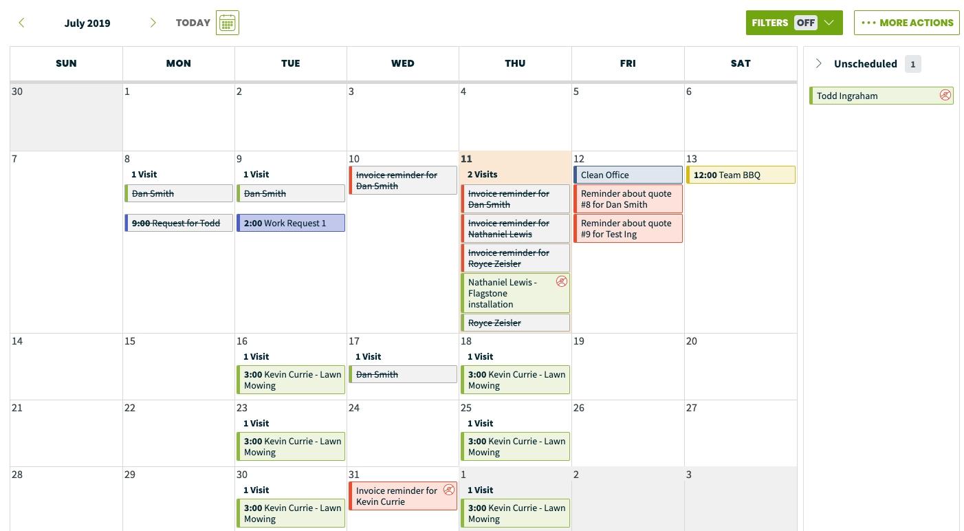 Calendar Month & Week View – Jobber Help Center