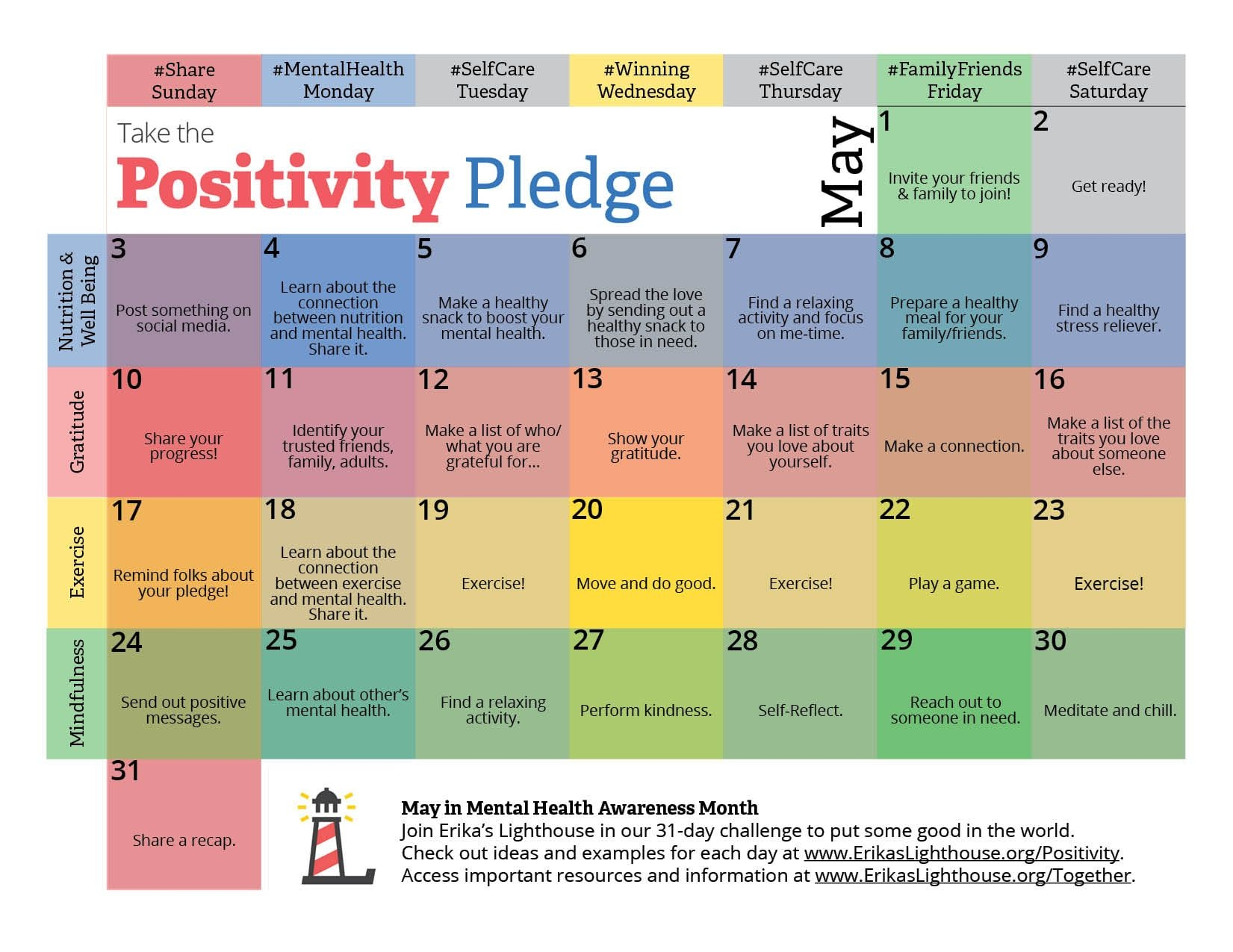 calendar positivity pledge