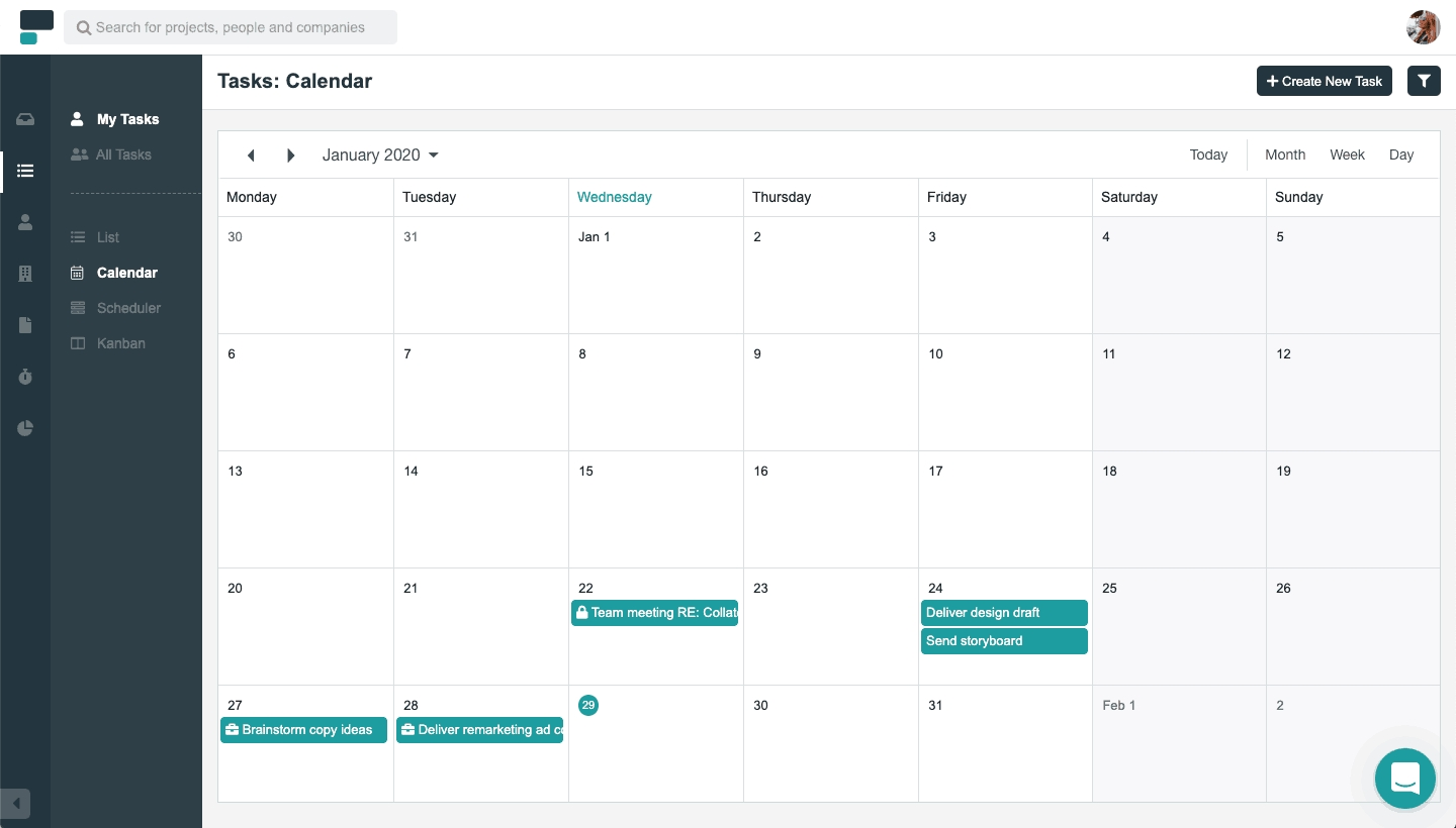 Calendar View | Project Co Learn