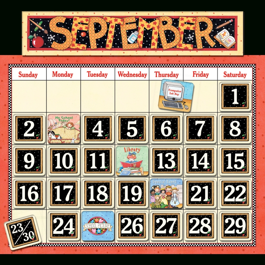 Classroom Calendar Bulletin Board From Mary Engelbreit