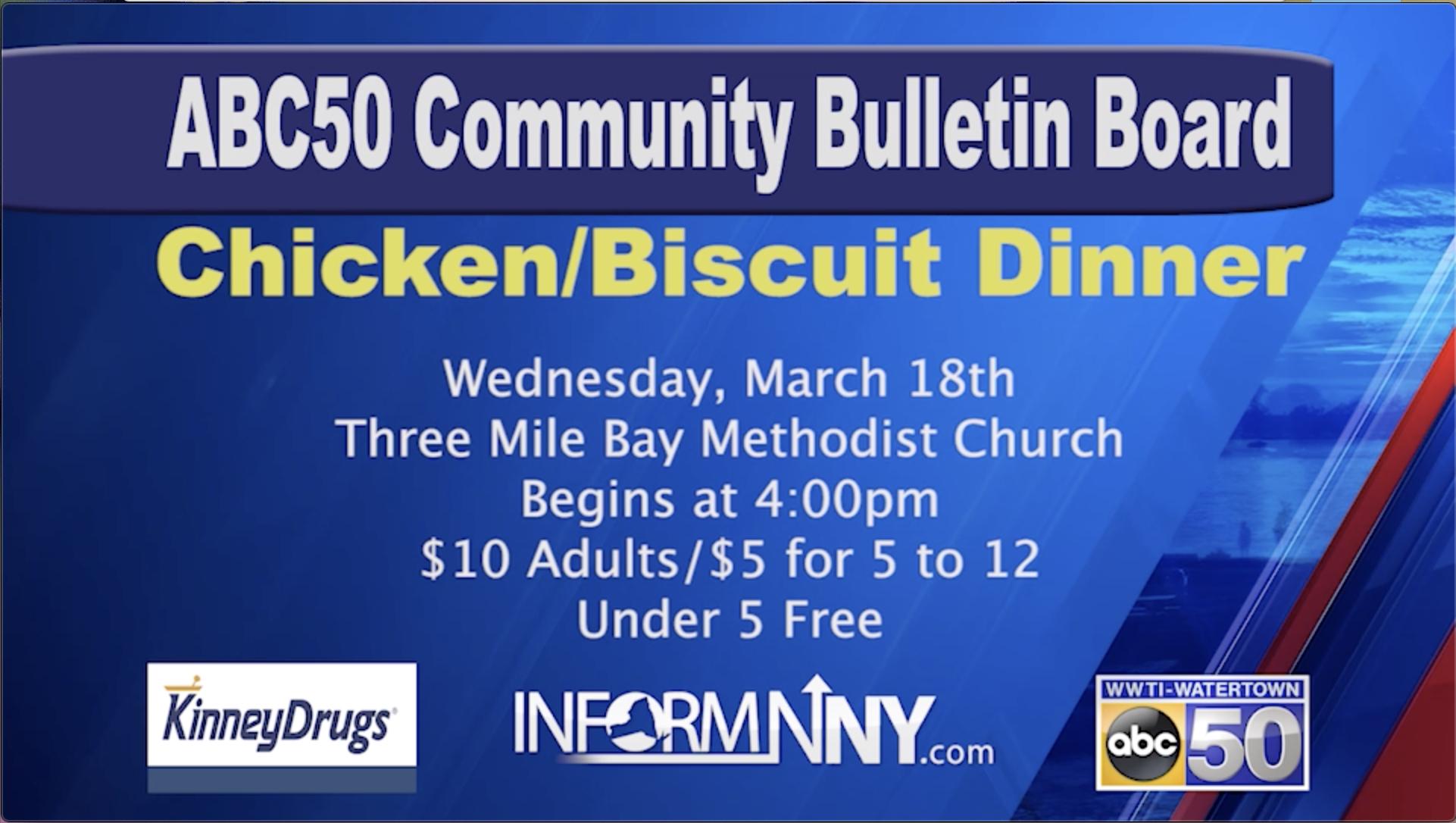 Community Calendar: Fundraiser In Watertown, Chicken