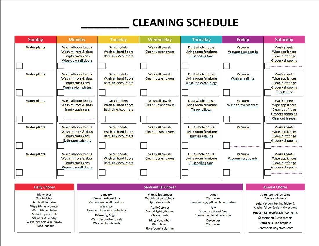 Complete Housekeeping Printable Set! | Cleaning Schedule