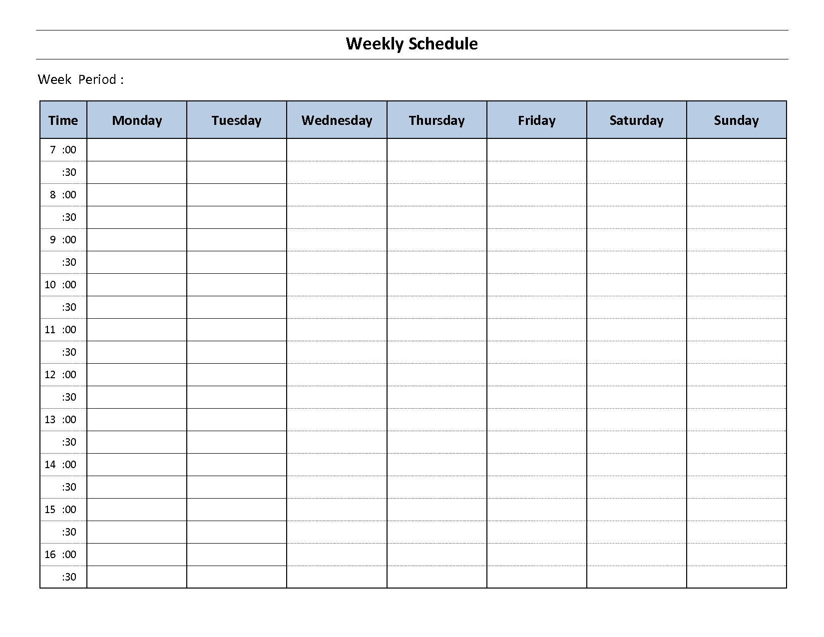 Construction Schedule Template Excel Free Download | Weekly