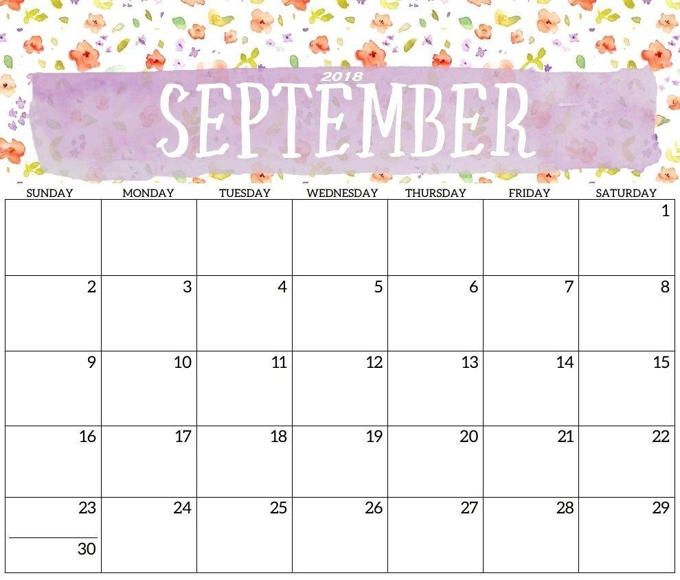 Countdown Calendar September 2018 Economic Printable | Free