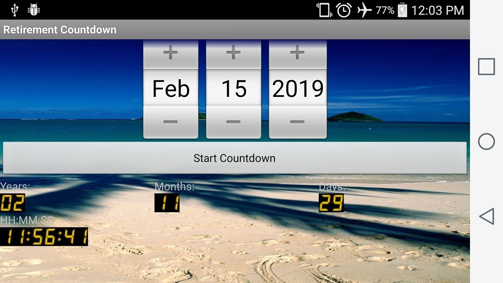 countdown calendar widget for desktop in 2020 | retirement