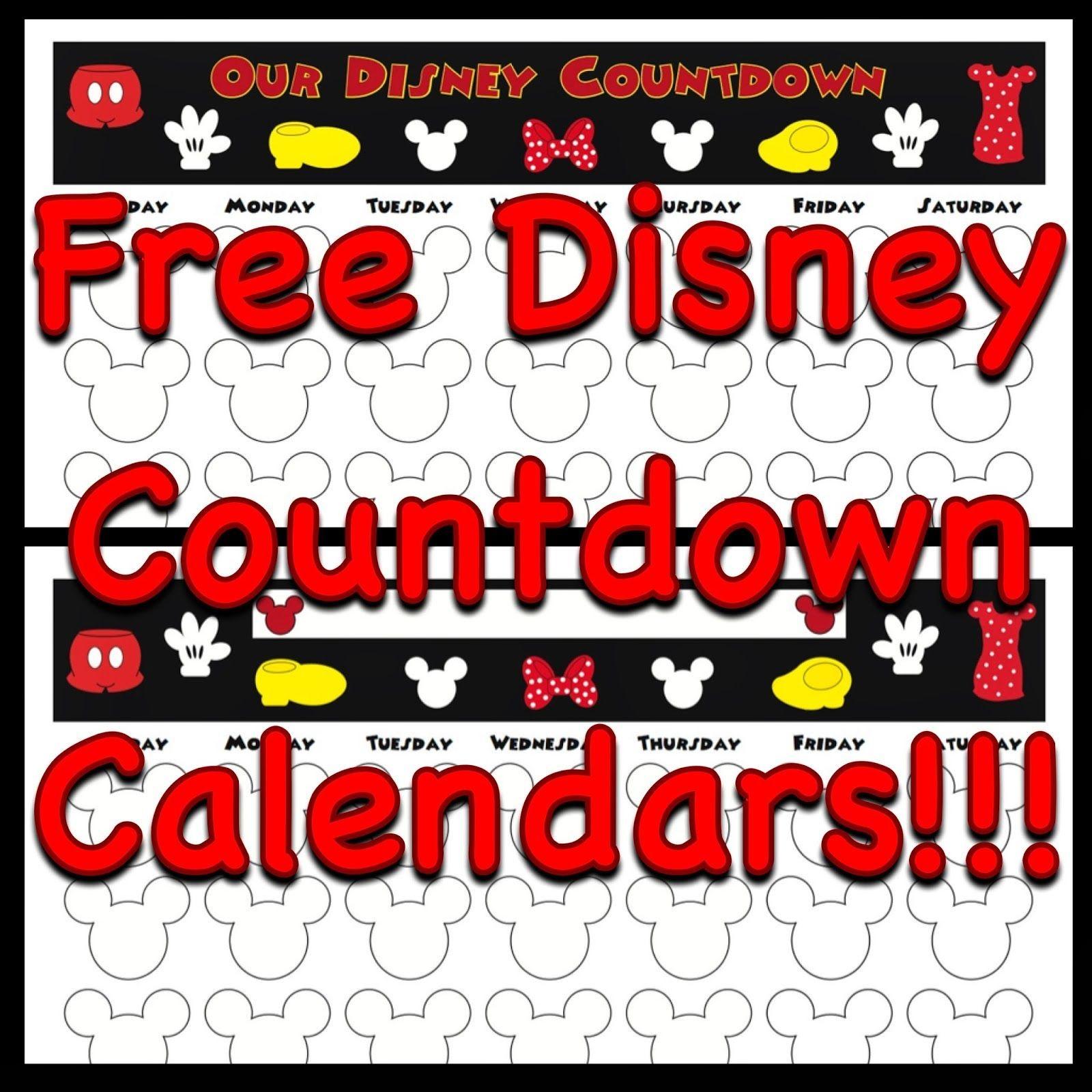 Countdown Calendars | Disney Calendar, Disney Countdown