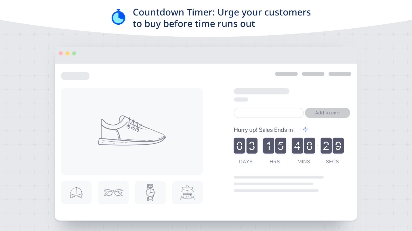 countdown cart create product urgency and scarcity