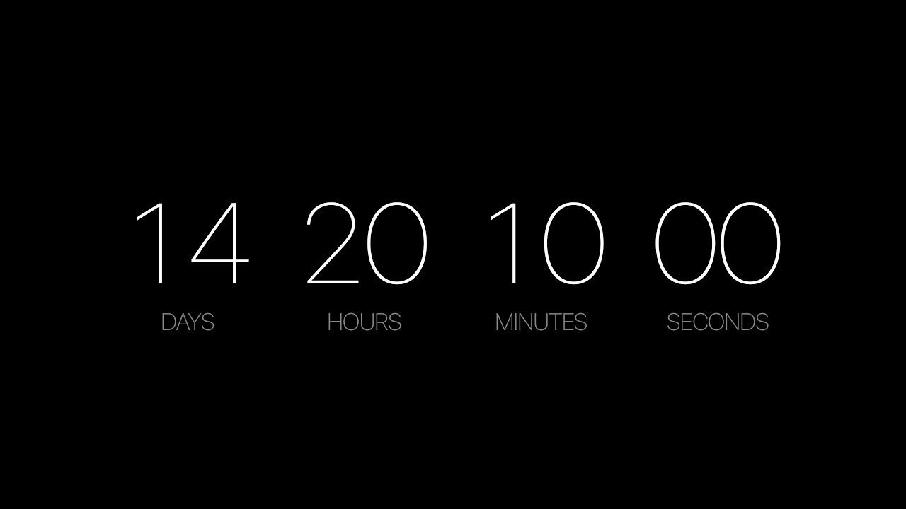 Countdown Screensaver | A Mac Screensaver For Counting Down To A Date