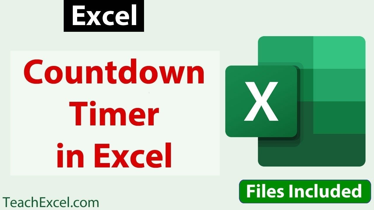 countdown timer in excel