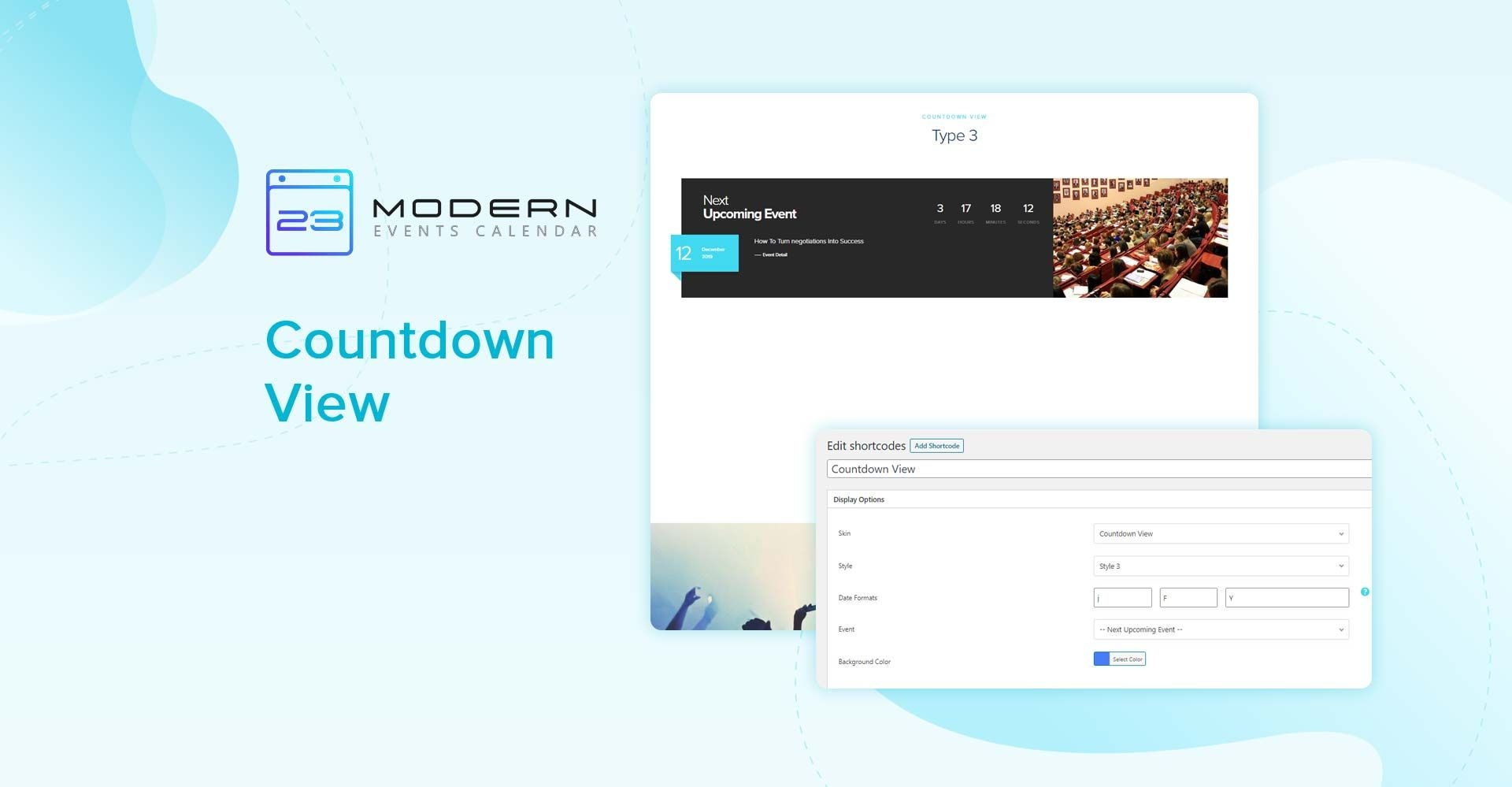 Countdown View Skin Modern Events Calendar