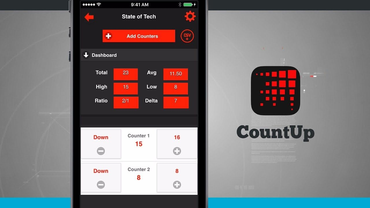Countup The Connected Counter Iphone App Demo