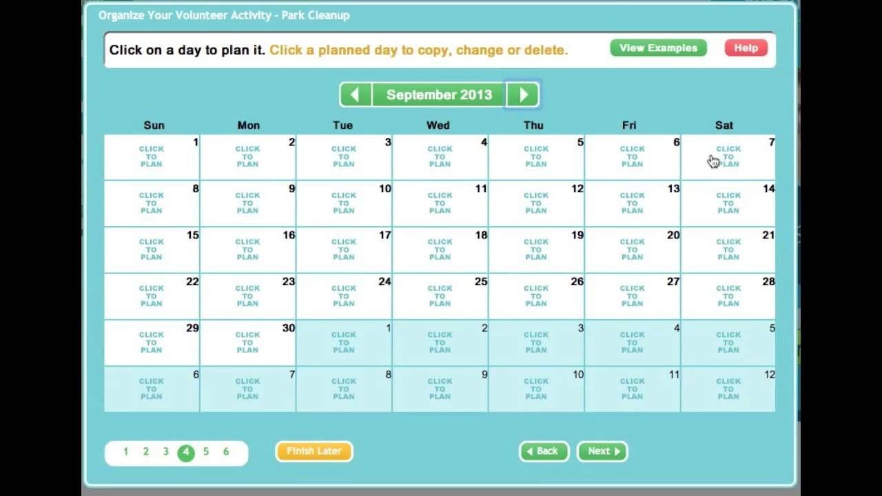 Creating An Online Sign Up Sheet Or Volunteer Calendar