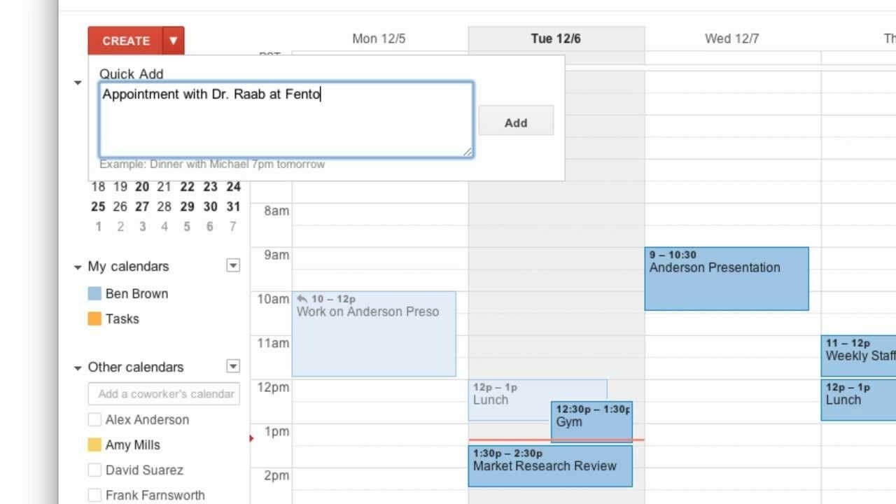 creating events in google calendar
