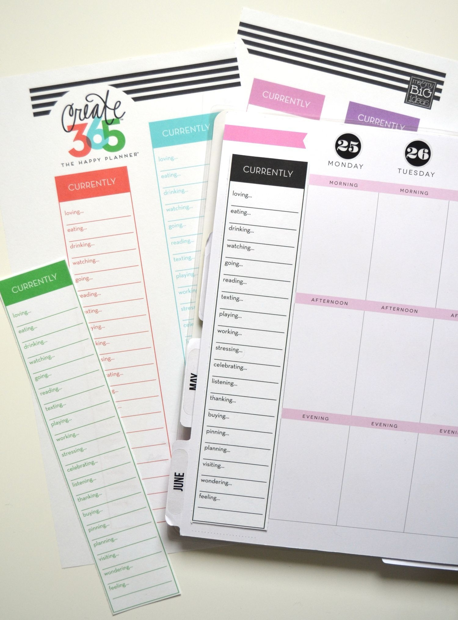 currently' free printables for the happy planner™ | happy