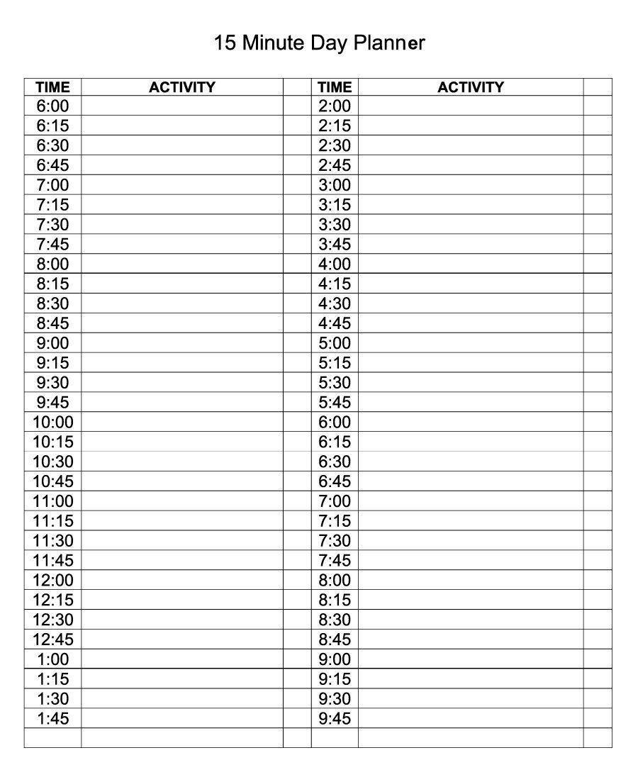 daily calendar template editable planner | excel calendar
