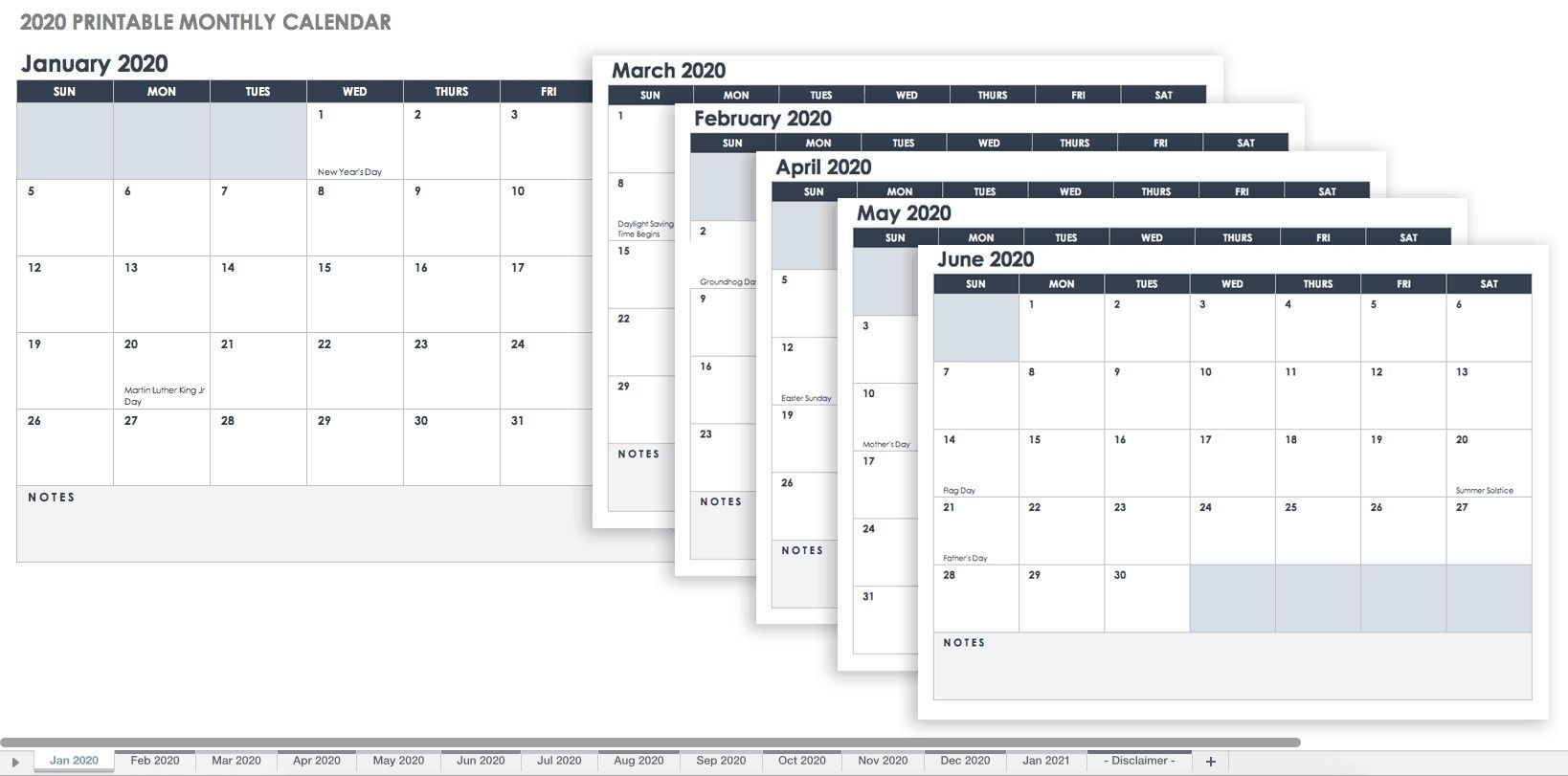 Dashing Monthly Calendar Template You Can Type In In 2020